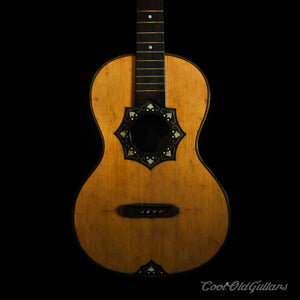 Ornate 1800s European Acoustic Parlor Guitar