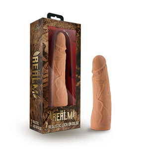 The Realm - Realistic 7in Lock On Dildo - Mocha