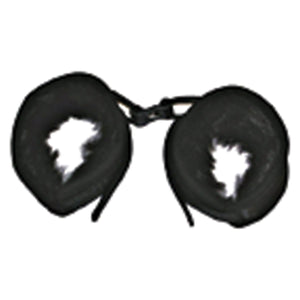 Mink Faux Fur Handcuffs Black