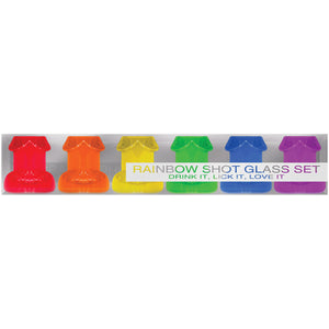 Penis Shooter Rainbow Set of Six