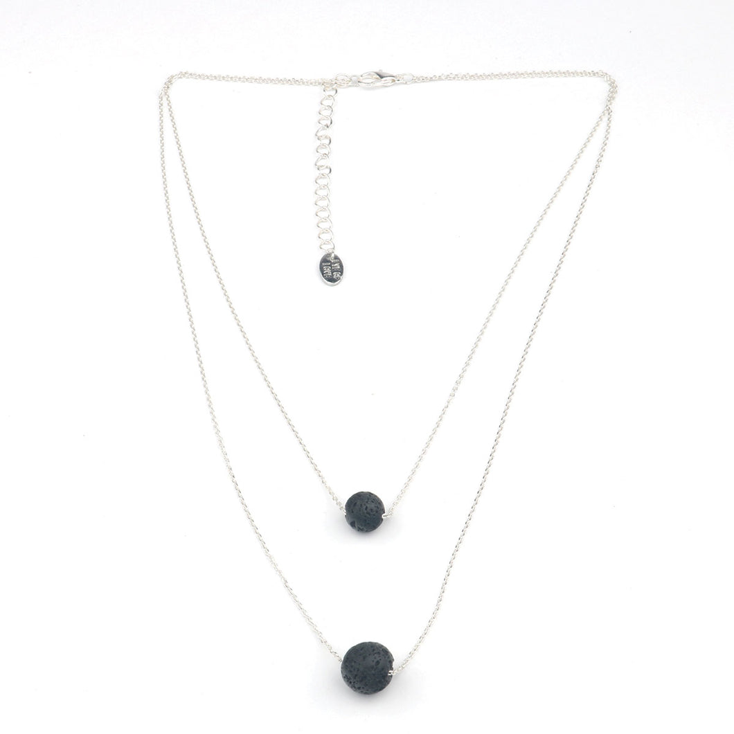 Eye of Love 2-Layer Necklace - Silver