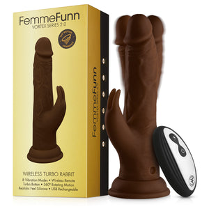 Femme Funn Wireless Turbo Rabbit - Brown