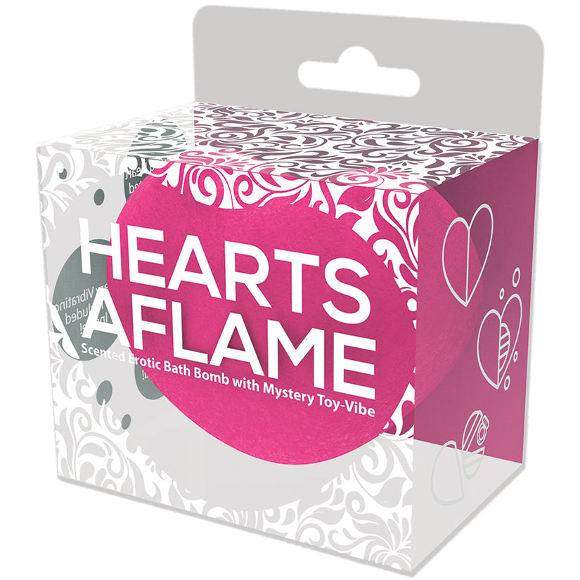 Hearts A Flame Erotic Lovers Bath Bomb with Vibe Inside