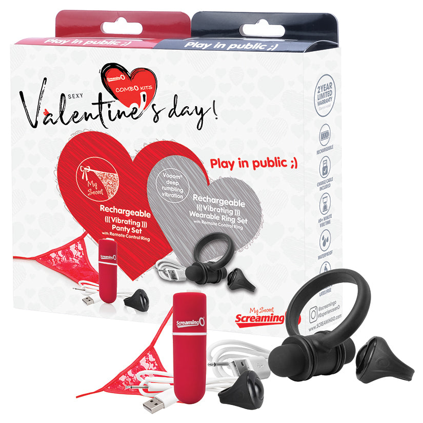Screaming O 2020 Valentine Combo Panty/Ring