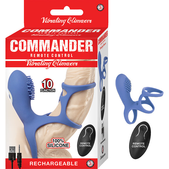 Commander Remote Control Vibrating Climaxer Blue