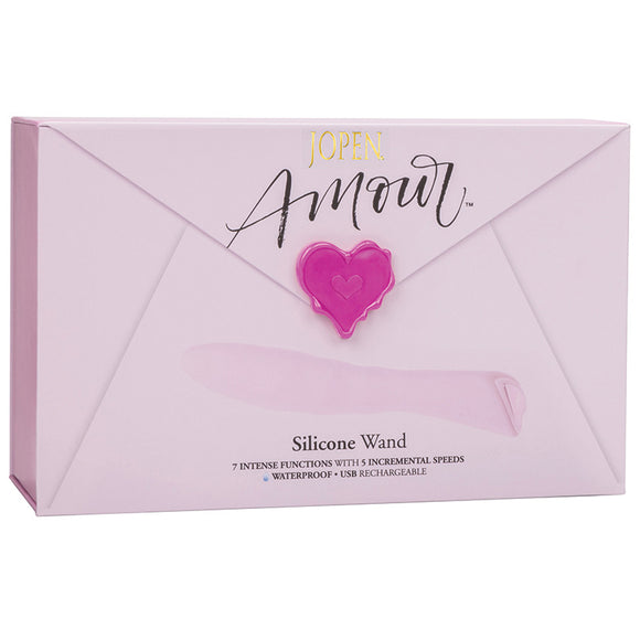 Amour Silicone Wand-Pink 8""