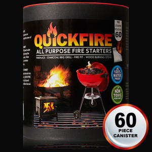 60 PC Tube QuickFire All Purpose Firestarters
