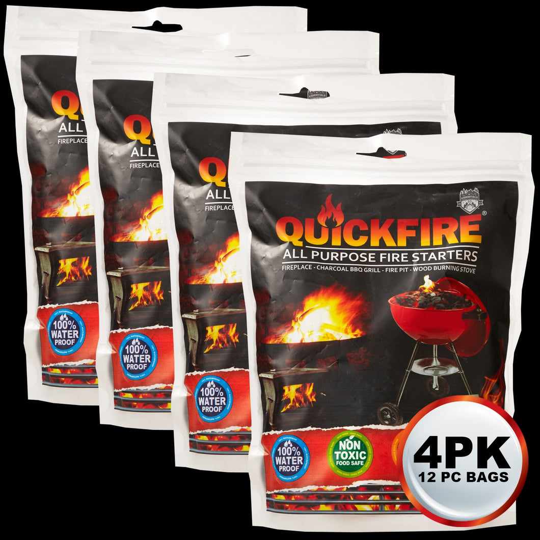 Quickfire 12 Pack 4 Piece Holiday Bundle Stocking Stuffer Special