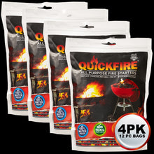 Quickfire 12 Pack 4 Piece BBQ and Campfire Special (DISCOUNT APPLIED AT CHECKOUT)