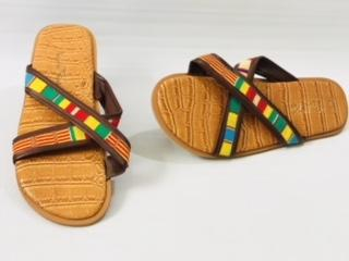 African slippers ,sandals,summer,beach , indoors or outdoor wear