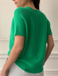 CHRISTIAN WIJNANTS Karim Knit Top in Fresh Green
