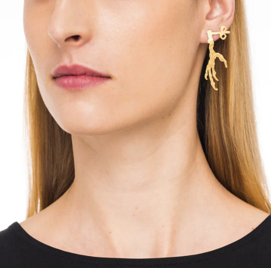 Wouters & Hendrix Single Stud Crow's Foot Earring