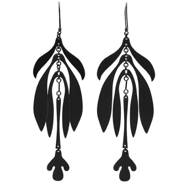 SIAN EVANS Infloresence Earrings in Black