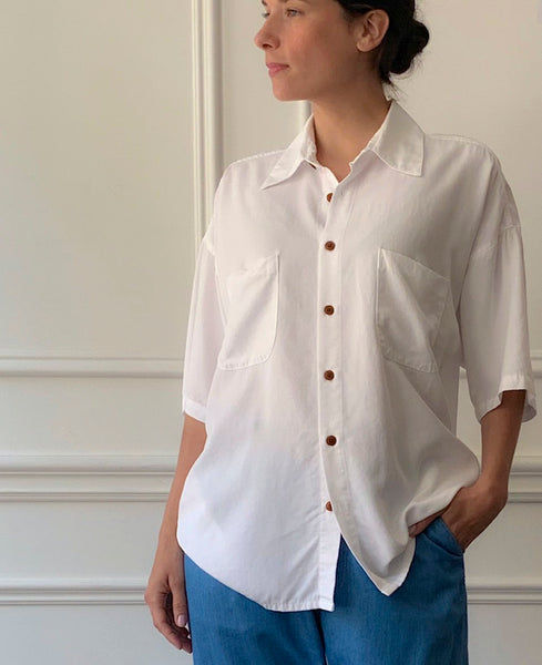 MYTHINKS White Tencel Shirt