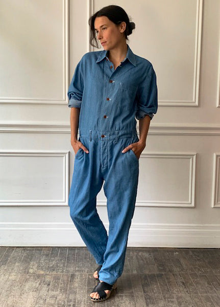 MYTHINKS Soft Denim Jumpsuit