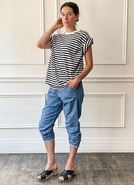 MYTHINKS Soft Denim Pants