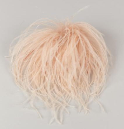 INDRESS Annapurna Ostrich Feather Brooch/Hairpiece Nude