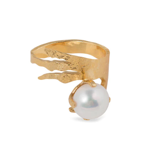 Wouters & Hendrix Crow's Foot and Pearl Ring