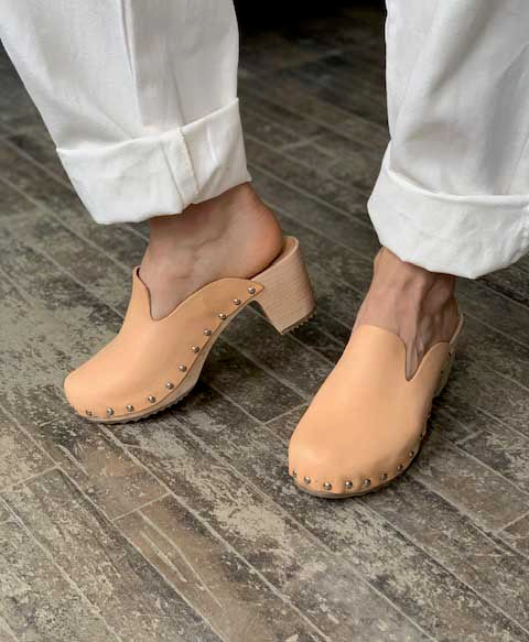 French Theo Pitou Clog Natural