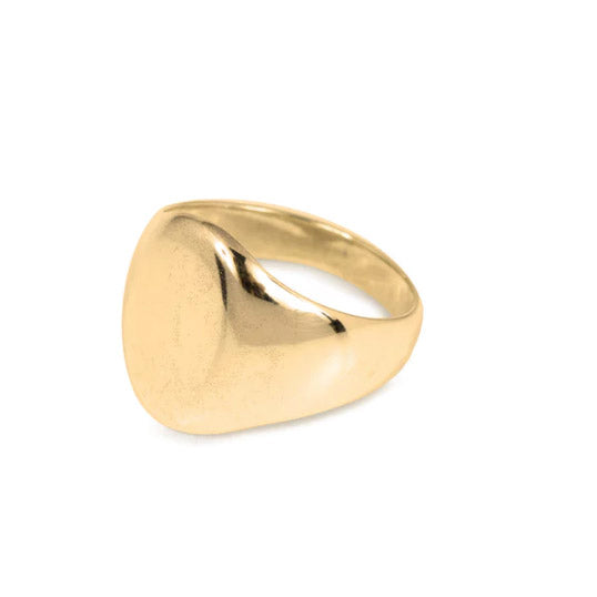 Wouters & Hendrix Gold Oval Signet Ring