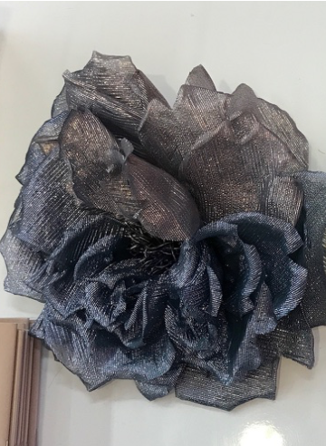 INDRESS Big Lurex Flower Brooch/Headpiece in Mauve/Skin