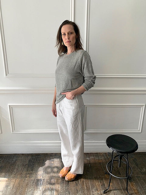 INIS MEAIN KNITTING CO. Linen/Silk Rollneck Tunic
