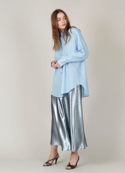 INDRESS Oversized Cotton Shirt Sky