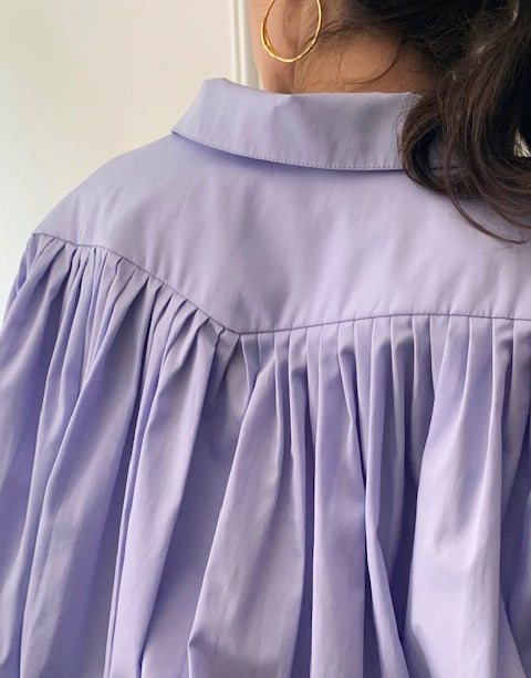 Veronique Leroy Lilac Oversize Pleated Blouse