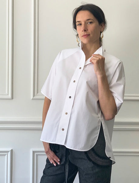 Veronique Leroy High Collared Blouse