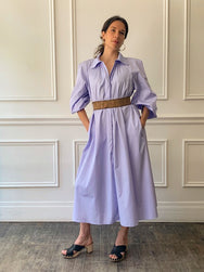 Veronique Leroy Lilac Poplin Shirtdress