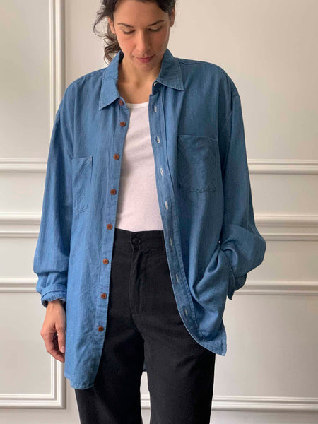 MYTHINKS Soft Denim Shirt
