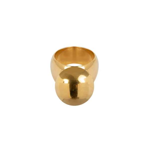 Wouters & Hendrix Statement Ball Ring in Gold