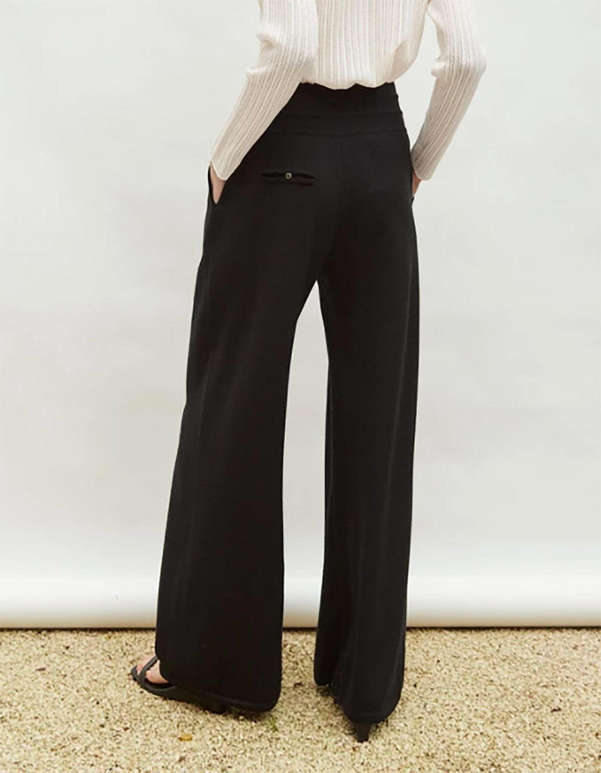 Molli Pleated Front Pants in Black