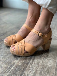 French Theo Pierette Sandal Natural