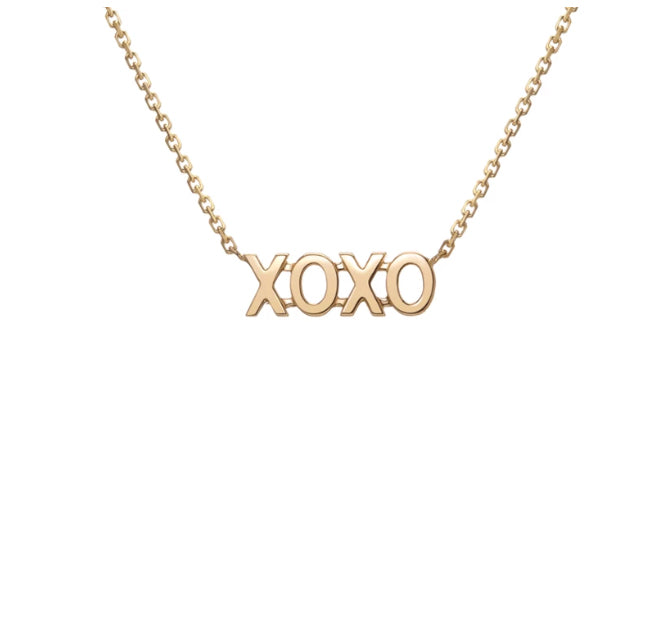 Gillian Steinhardt 14k Gold XO Necklace