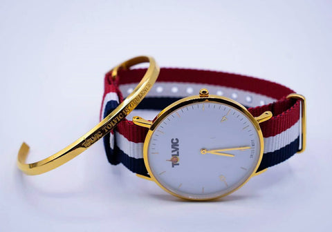 Deals: Tolvic Swiss Wristwatch and Classic Gold Cuff