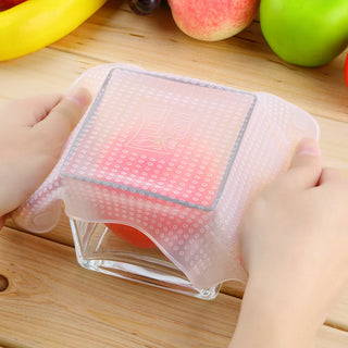 12pcs Magic silicone reusable food wrap