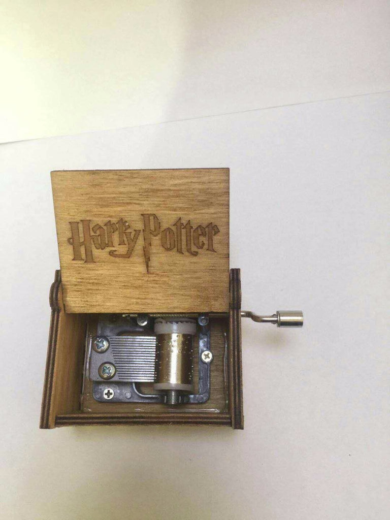 Harry Potter Themed Hand Engraved Wooden Music Box