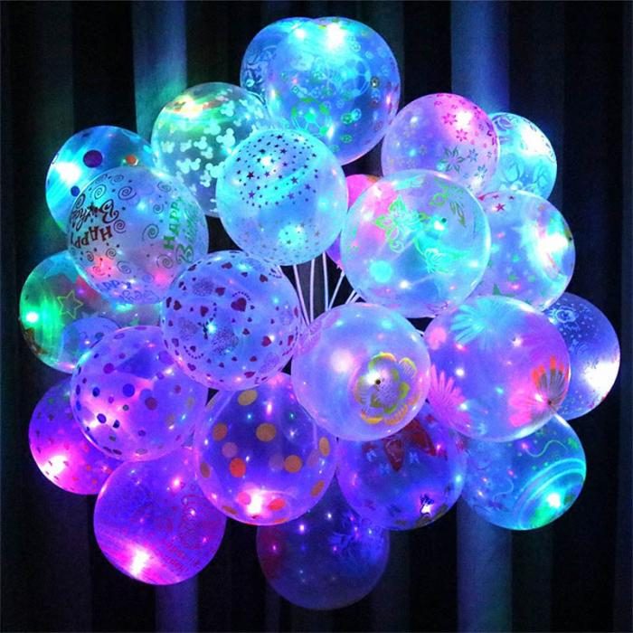 10 Pcs of LED Light Up Balloons