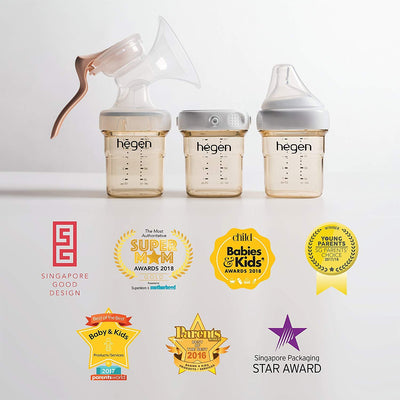 Hegen PCTO™ 240ml/8oz Feeding Bottle PPSU (2-pack bundle)