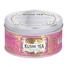 Kusmi Tea decaffeinated Earl Grey with citrus fruit tins