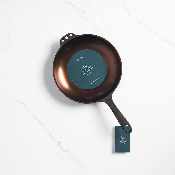 SMITHEY -  NO. 10 CAST IRON CHEF SKILLET