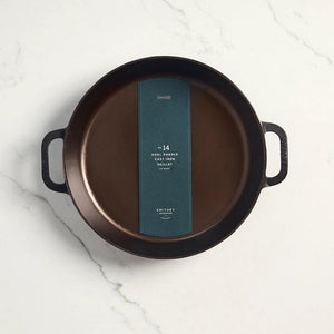 SMITHEY -  NO. 14 DUAL HANDLE SKILLET