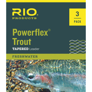 RIO POWERFLEX TROUT 3-PACK