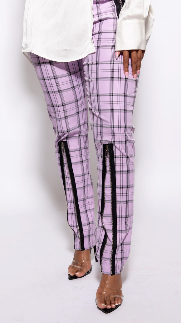 Zip It Plaid Pants - The Style Guru