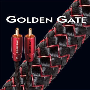 Audioquest Golden Gate Analog Audio Interconnect Cable (3.5mm Mini M to RCAs)