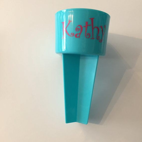 Beach Cubbies/Spike Drink and Cell Phone Holder! Personalized vinyl sticker included in price!