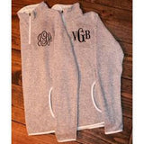 Monogrammed Charles River Heathered Fleece