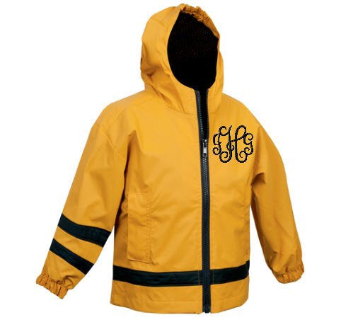 Monogrammed New Englander Toddler/Childrens Rain Jacket