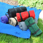 Embroidered Fleece Blanket with Carrying Strap! Monogrammed and Personalized.